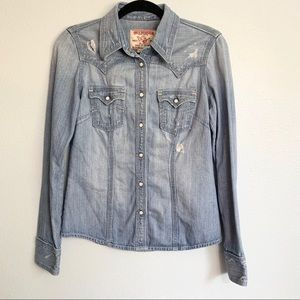 True Religion Rocky Denim Western Button Down